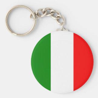 Italien-Italiener-Italien-Flagge Tricolore Entwurf Standard Runder Schlüsselanhänger