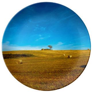 Italien-Landschaft mit Baum Porzellanteller