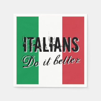 Italiener verbessert es Partyservietten des Papierservietten