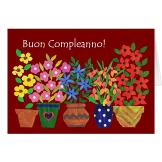 Italienische Geburtstags-Karte - Blumen-Power! Grußkarte