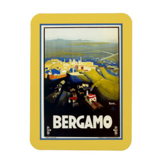 Italienische Reise Vintage Zwanzigerjahre Bergamos Magnete