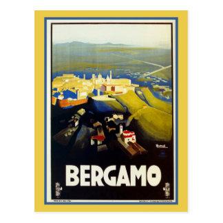 Italienische Reise Vintage Zwanzigerjahre Bergamos Postkarten