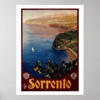 Italienische Reise Vintage Zwanzigerjahre Sorrents Poster