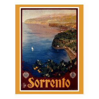 Italienische Reise Vintage Zwanzigerjahre Sorrents Postkarte