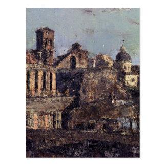 Italienische Stadtansicht durch Antonio Mancini Postkarte