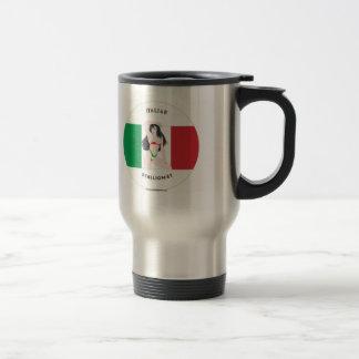 Italienische Stallion-und brünette/blonde Reisebecher