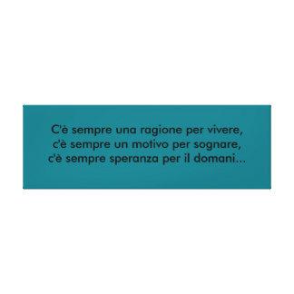 italienischer Spruch Sprüche Leinwanddrucke