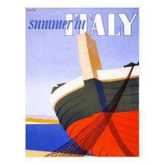 Italienisches Ausflugplakat Postkarte