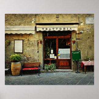 Italienisches Restaurant Poster