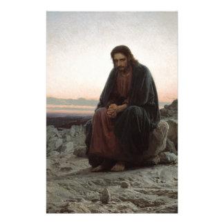 Iwan Kramskoy- Christus in der Wildnis-schönen Briefpapier
