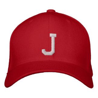 J-Buchstabe Bestickte Baseballkappe
