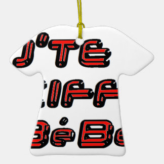 J TE KIFFE BEBE.png Weihnachtsbaum Ornament