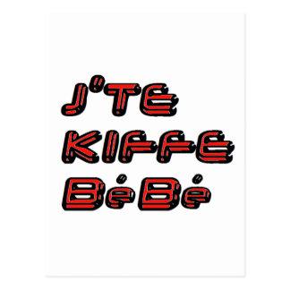 J TE KIFFE BEBE.png Postkarten
