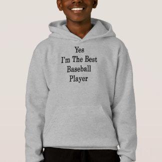 Ja bin ich der beste Baseball-Spieler Hoodie