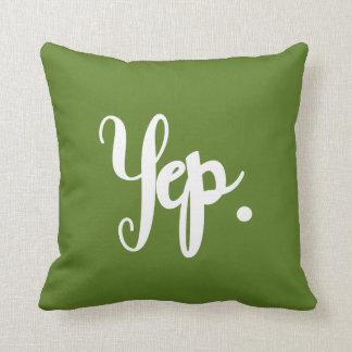 Ja oder Nope Spaß-Hand-Mit Buchstaben Kissen
