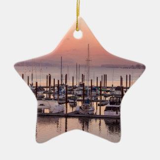 Jachthafen entlang Columbia River am Keramik Ornament