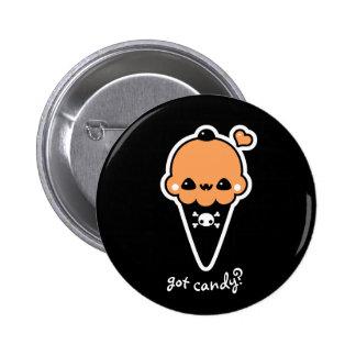 Jack O'Lantern Eiscreme-Kegel Runder Button 5,1 Cm