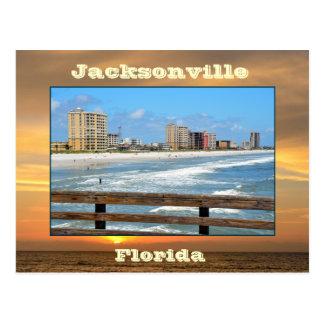 Jacksonville-Strand, Florida Postkarte