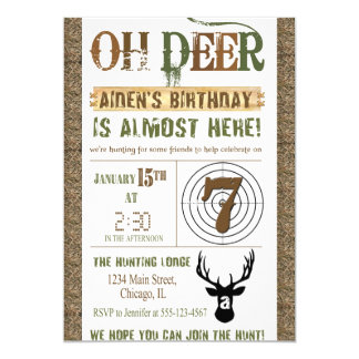 Jagd-Geburtstags-Einladung 12,7 X 17,8 Cm Einladungskarte