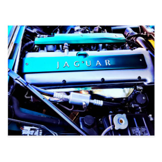 Jaguar-Motor Postkarte