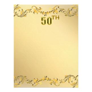 Jahrestag des Gold50. oder Geburtstags-antiker Flyer