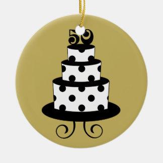 Jahrestags-Andenken der goldenen Hochzeits-50. Keramik Ornament