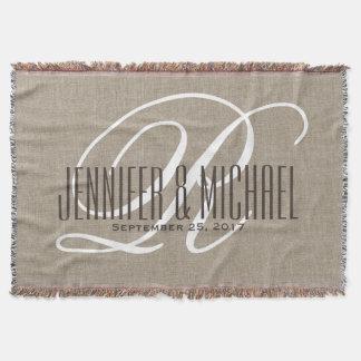 Jahrestags-/Hochzeits-Monogramm-Vintages Decke
