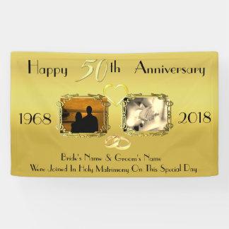 Jahrestags-Idee der Goldhochzeits-50. Banner