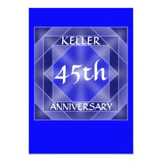 Jahrestags-Juwel laden ein 12,7 X 17,8 Cm Einladungskarte
