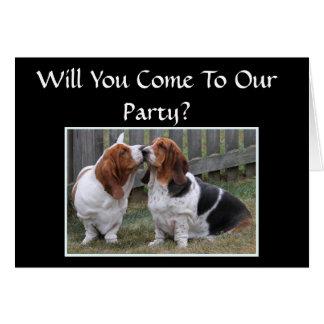 Jahrestags-Party Karte