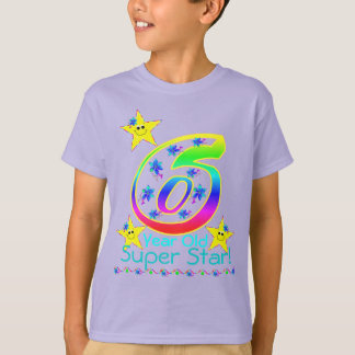 Jähriges Superstern-Shirt der Mädchen-6 T-Shirt
