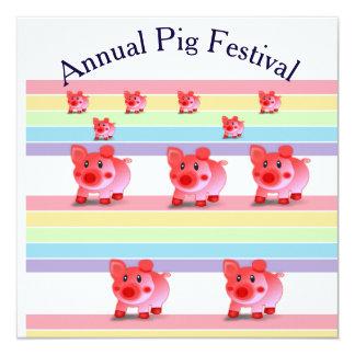 jährliche Schweinfestival-Party Einladungskarte