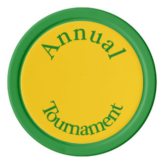 Jährliche Turnier-Grüne Poker-Chips Poker Chips Set