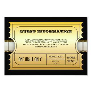 Jährlicher Film spricht Party goldenen 8,9 X 12,7 Cm Einladungskarte