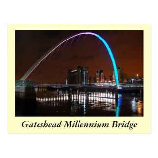 Jahrtausend-Brücke, Gateshead Postkarte