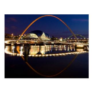Jahrtausend-Brücke Newcastle Postkarte