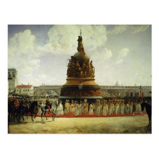 Jahrtausend von Russland Postkarte