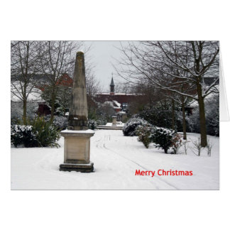"""""""Jahrtausend-Weg im Winter"""" Weihnachtskarte Karte"""