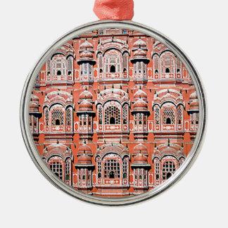 Jaipur-Palast Indien Rundes Silberfarbenes Ornament