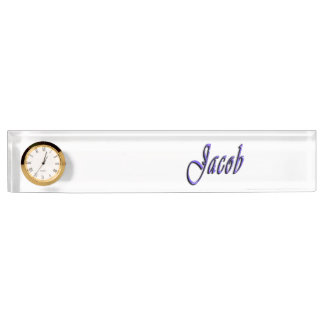 Jakob, Name, Logo, Schreibtisch-Nummernschild mit Namensplakette