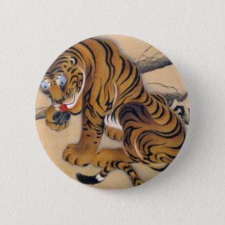 Jakuchu_ 虎図 runder button 5,7 cm