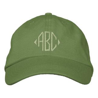 Jalepeno und Kaktus-grünes Monogramm Bestickte Kappe