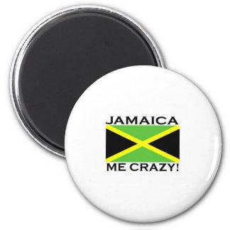 Jamaika ich verrückt runder magnet 5,7 cm
