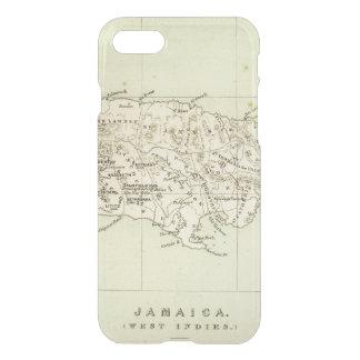Jamaika lithographierte Karte iPhone 8/7 Hülle