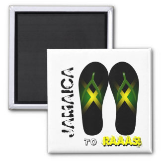 Jamaika zum Raaas Pantoffel-Magneten Quadratischer Magnet