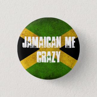 Jamaikanisch ich verrückt runder button 2,5 cm