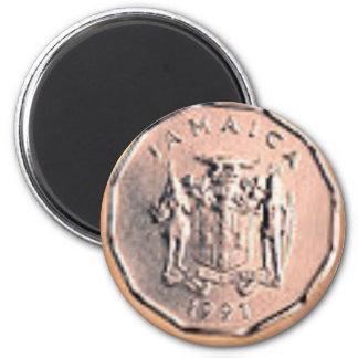 Jamaikanische 1 Cent-Münze Runder Magnet 5,1 Cm