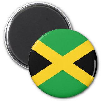 Jamaikanische Flagge Runder Magnet 5,7 Cm