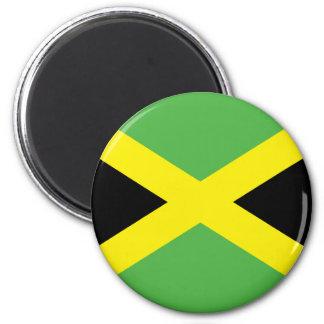 Jamaikanische Flaggen-T - Shirts und Geschenke Runder Magnet 5,7 Cm