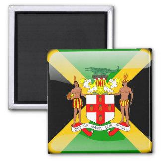Jamaikanische glatte Flagge Quadratischer Magnet